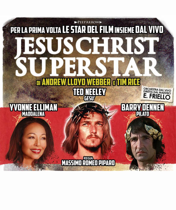 Ted Neeeley Yvonne Ellilman e Barry Dennen JESUS CHRIST SUPERSTAR