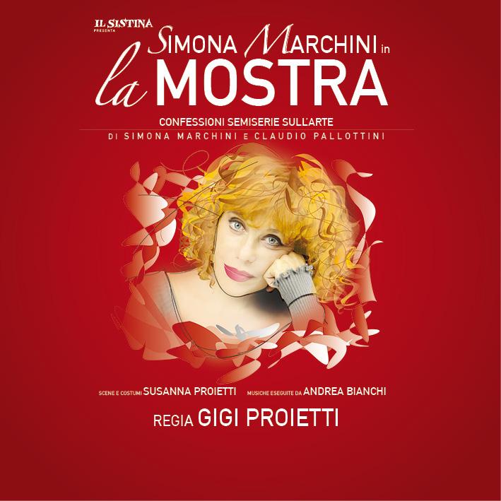 Simona Marchini  LA MOSTRA