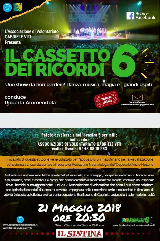 LOCANDINA IL CASSETTO DEI RICORDI 2018